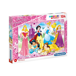 Puzzle Supercolor disney princess principessa 27086