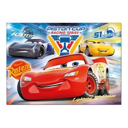 Puzzle Clementoni - Supercolor disney pixar cars - saetta mcqueen serie piston cup racing 27072