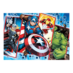 Puzzle Clementoni - Supercolor maxi - vendicatori - marvel 24495