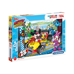 Puzzle Clementoni - Supercolor - disney mickey and the roadster racers 27984