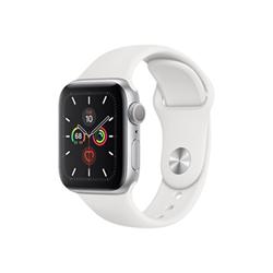 Smartwatch Apple - Watch Series 5 GPS 40mm Alluminio Argento con cinturino Sport Bianco
