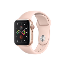 Smartwatch Apple - Watch Series 5 GPS 40mm Alluminio Oro con cinturino Sport Rosa Sabbia