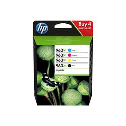 Cartuccia HP - 963xl - confezione da 4 - alta resa - nero, giallo, ciano, magenta 3yp35ae#301