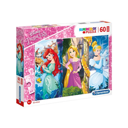 Puzzle Supercolor maxi disney princess principessa 26416a