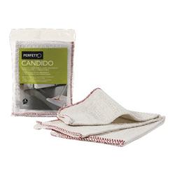 Candido strofinaccio per pulizia cotone bianco 0266a