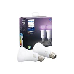 Lampadina LED Philips - Hue White & Color, 2 Lampadine LED Smart con Bluetooth, E27