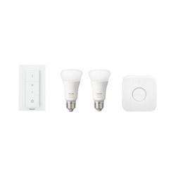 Lampadina LED Philips - Hue white & Color Kit, 2 Lampadine smart E27,Telecomando, Bridge