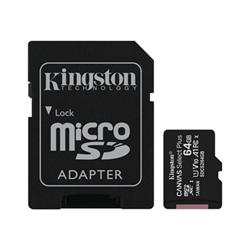 Micro SD Kingston - Canvas select plus - scheda di memoria flash - 64 gb sdcs2/64gb-2p1a