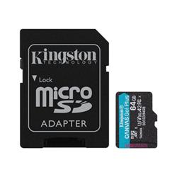 Micro SD Kingston - Canvas go! plus - scheda di memoria flash - 64 gb - uhs-i microsdxc sdcg3/64gb