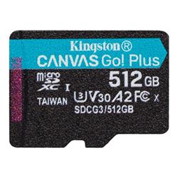 Micro SD Kingston - Canvas go! plus - scheda di memoria flash - 512 gb sdcg3/512gbsp
