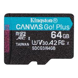 Micro SD Kingston - Canvas go! plus - scheda di memoria flash - 64 gb - uhs-i microsdxc sdcg3/64gbsp
