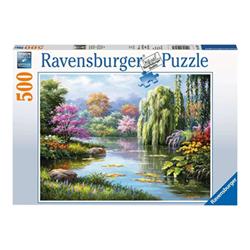 Puzzle Ravensburger - Vista romantica sullo stagno 14827