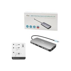 Docking station I-TEC - Usb-c metal nano 3x display docking station + power delivery 100 w c31nanodockp