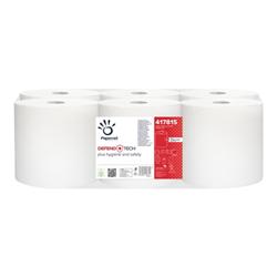 Papernet - Defend tech asciugamani - rotolo - 115 m - bianco (pacchetto di 6) 417815