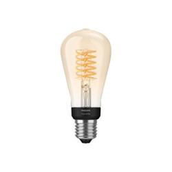 Lampadina LED Philips - Hue White Filament ST64, Lampadina LED Smart, Bluetooth, attacco E27