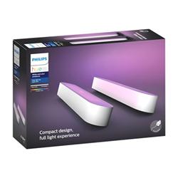 Lampada Philips - Hue Play White&Color, 2 Lampade Smart Kit base alimentatore, Bianca