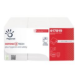 Papernet - Defend tech salviettina per maniglia - 200 fogli - ripiegati - bianco 417819