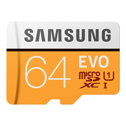 Micro SD Samsung - Evo mb-mp64ha - scheda di memoria flash - 64 gb - uhs-i microsdxc mb-mp64ha/eu