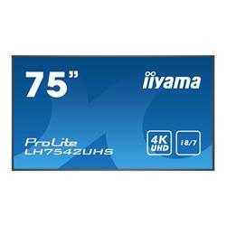 """Monitor LED IIYAMA - Prolite 75"""" classe (74.5"""" visualizzabile) display led - 4k lh7542uhs-b1"""