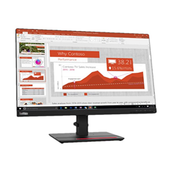 "Monitor LED Lenovo - Thinkvision t24i-20 - monitor a led - full hd (1080p) - 23.8"" 61f7mat2it"