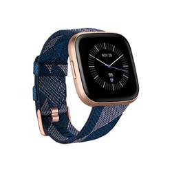 Smartwatch Versa 2 Special Edition Rosa Ramato con cinturino in Tessuto Blue Navy