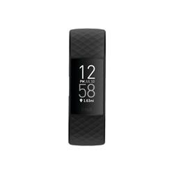 Smartwatch Fitbit - Charge 4 - nero - sistema di monitoraggio attività con cinturino fb417bknv
