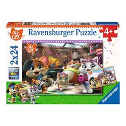 Image of Puzzle Ravensburger's puzzle 44 cats - a tempo di musica con i buffycats 50123