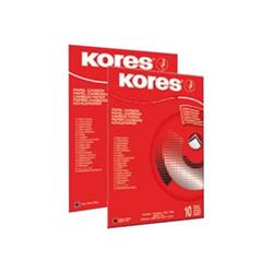 Carta KORES - CARTA CARBONE A4 - 100 fogli - Per macchine da scrivere - Nera