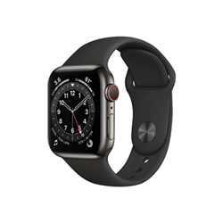 Smartwatch Apple - Watch series 6 (gps + cellular) - acciaio inossidabile e grafite m06x3ty/a