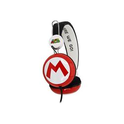 Image of Cuffie Otl super mario icon red/black big kids stereo headphones - cuffie sm0654