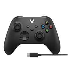Controller Microsoft - Xbox Wireless Controller Schock Black + USB-C Cable