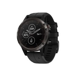 Smartwatch Garmin - Fenix 5 Plus 47mm Polyamide Black con cinturino in silicone nero