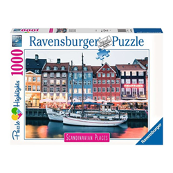 Puzzle Puzzle highlights scandinavian places copenhagen, denmark 16739
