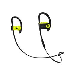 Beats Powerbeats3 - Écouteurs avec micro - intra-auriculaire - montage sur l'oreille - sans fil - Bluetooth - isolation acoustique - jaune choc - pour 12.9-inch iPad Pro; 9.7-inch iPad Pro; iPad mini 2; 4; iPhone 6s, 7, SE