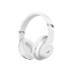 Beats Studio Wireless - Casque avec micro - pleine taille - sans fil - Bluetooth - Suppresseur de bruit actif - blanc brillant - pour 12.9-inch iPad Pro; 9.7-inch iPad Pro; iPad (3rd generation); iPad 1; 2; iPad Air; iPad Air 2; iPad mini; iPad mini 2; 3; 4; iPad with Retina display; iPhone 3G, 3GS, 4, 4S, 5, 5c, 5s, 6, 6 Plus, 6s, 6s Plus, 7, 7 Plus, SE; iPod (4G, 5G); iPod classic; iPod mini; iPod nano; iPod shuffle; iPod touch