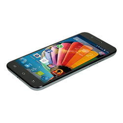 "Smartphone MEDIACOM PhonePad Duo G512 - Smartphone - double SIM - 3G - 8 Go - microSDHC slot - GSM - 5"" - 960 x 540 pixels - IPS - 5 MP (caméra avant de 2 mégapixels) - Android - gris"