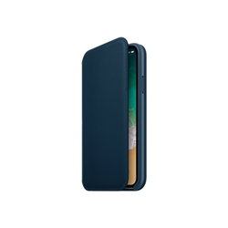 Cover iPhone X Leather Folio Cosmos Blue