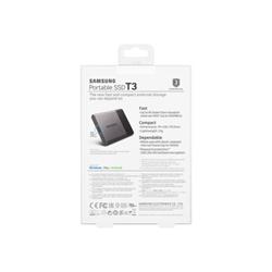 Disque dur interne Samsung Portable SSD T3 MU-PT2T0B - Disque SSD - chiffré - 2 To - externe (portable) - USB 3.1 Gen 1 - AES 256 bits