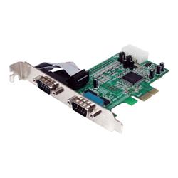Scheda PCI Startech.com scheda seriale pci express nativa a 2 porte rs 232 con 16550 uart