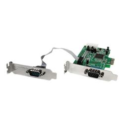 Scheda PCI Startech.com scheda pci express seriale nativa basso profilo a 2 porte rs 232 c
