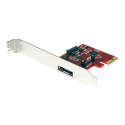 Image of Scheda PCI Startech.com sata controller card pci express sata 6 gbps 1x esata + 1x sata pe