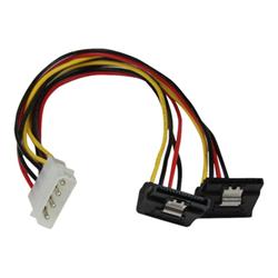 Cavo SATA Startech - Startech.com splitter cavo di alimentazione y lp4 a 2 sata latching ad angolare