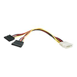 Cavo Startech - Startech.com cavo adattatore lp4 di alimentazione a y, 2 x sata, 30 cm pyo2lp4s