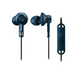 Philips ActionFit DigDeep SHQ2405BL - Écouteurs avec micro - intra-auriculaire - jack 3,5mm - isolation acoustique