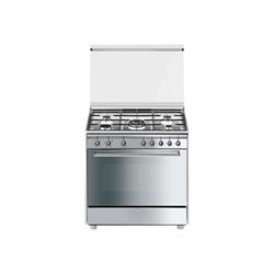 Cucina 90x60 4 1ult. inox forno gas - Cucina a gas Smeg - Monclick ...