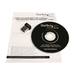 Adattatore bluetooth Startech - Startech.com usb 150mbps mini wireless n network adapter usb150wn1x1