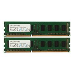 Memoria RAM Ddr3 kit 4 gb: 2 x 2 gb dimm a 240 pin v7k128004gbd