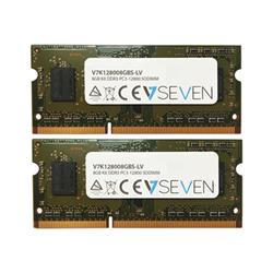 Memoria RAM Ddr3 kit 8 gb: 2 x 4 gb so dimm 204 pin v7k128008gbs lv