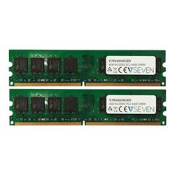 Memoria RAM Ddr2 kit 4 gb: 2 x 2 gb dimm a 240 pin v7k64004gbd