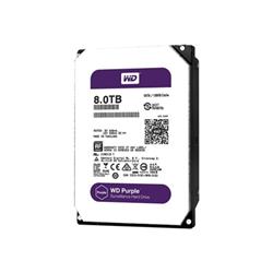 """Disque dur interne WD Purple Surveillance Hard Drive WD80PUZX - Disque dur - 8 To - interne - 3.5"""" - SATA 6Gb/s - 5400 tours/min - mémoire tampon : 128 Mo"""
